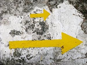 [Yellow Arrows on the Camino Francés]