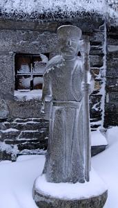 [Pilgrim statue]