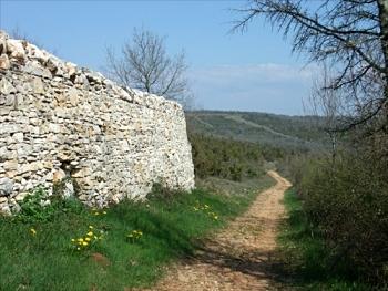 [Stone wall]