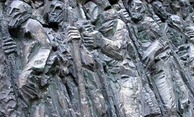 Pilgrim Sculpture in Burguete