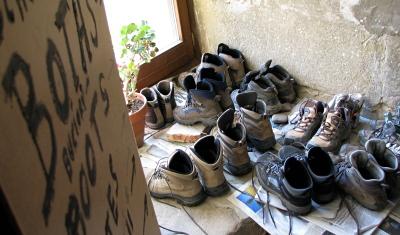 [Boots in the Grañon refugio]